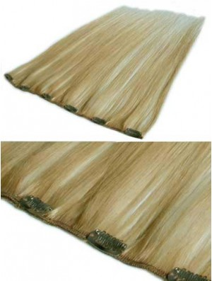 Sassy Blonde Straight Remy Human Hair Clip In Hair Extensions