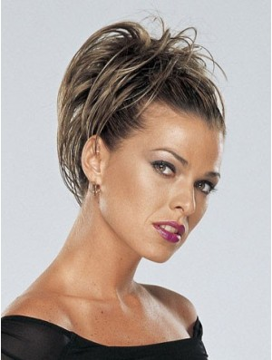 Stylish Brown Straight Synthetic Clip In Hairpieces