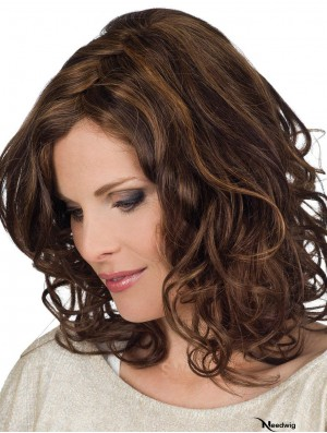 Best Lace Wigs UK 100% Hand Tied Curly Style Layered Cut