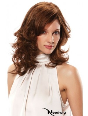 Human Hair Mono Top UK With Bangs Monofilament Shoulder Length