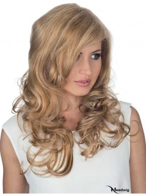 Remy Human Curly With Bangs Monofilament Hair Topper Human Hair UK