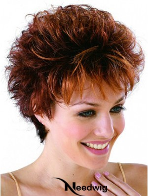 Remy Human Cropped Lace Front Curly Petite Monofilament Cap Wigs