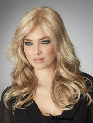 18 inch Lace Front Remy Human Long Blonde Wig Human Hair