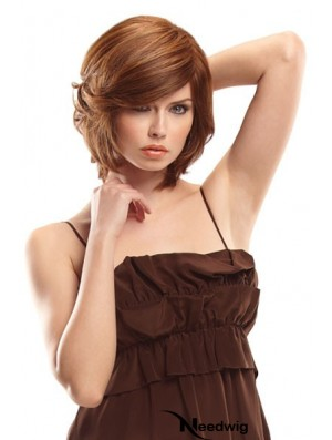 Bobs Chin Length Auburn Wavy Great Petite Wigs