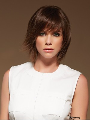 Large Cap Monofilament Wigs 100% Hand Tied Layered Cut Shoulder Length