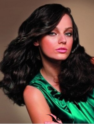 Human Hair Full Lace Wigs Sale With Bangs Black Color