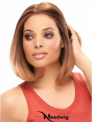 Auburn Chin Length Comfortable Straight Bobs Lace Wigs