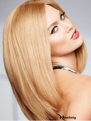 14 inch Straight 100% Hand-tied Shoulder Length Real Human Hair Wigs