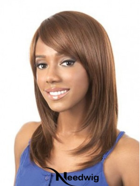 Wigs For African American Woman Brown Straight Shoulder Length