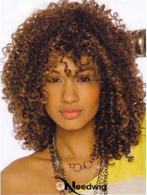 Wigs For African American Women Layered Cut Shoulder Length Kinky Style