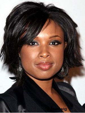Jennifer Hudson Afro Wigs With Synthetic Lace Front Chin Length
