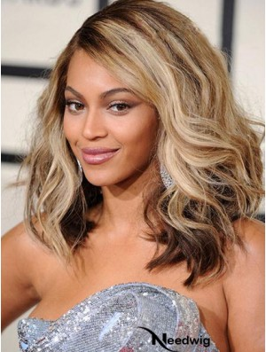 "Shoulder Length Wavy Layered Lace Front 14"" Fabulous Beyonce Wigs"