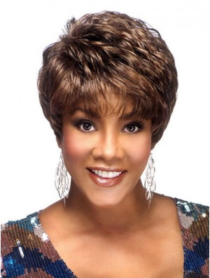 Short African American Wigs Collection Boycuts Cropped Length Brown Color
