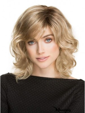 Classic Wigs With Synthetic Shoulder Length Blonde Color