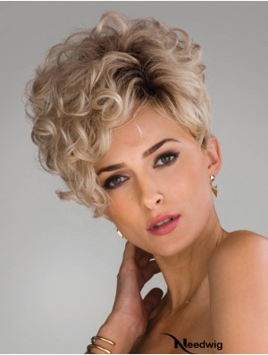 Synthetic Hair With Capless Curly Style Short Length Layered Cut