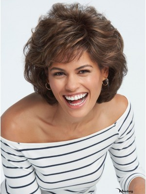 Capless Brown 8 inch Short Boycuts Synthetic Wigs