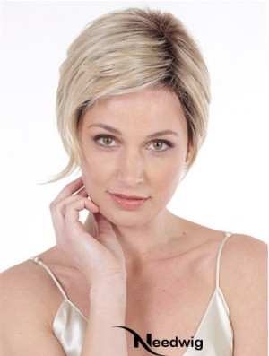Lace Front 6 inch Wavy Blonde Stylish Short Wigs
