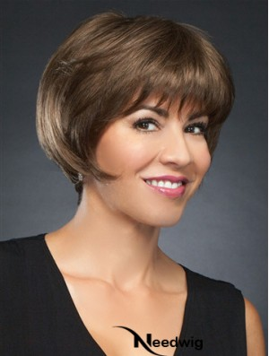 6 inch Cropped Incredible Brown Straight Bob Wigs