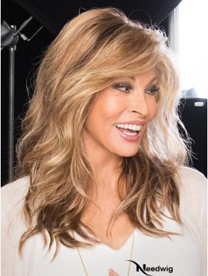 With Bangs Brown Wavy 16 inch Long High Quality Wigs