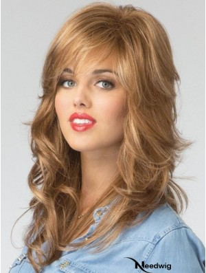 With Bangs Copper Wavy 16 inch Long Synthetic Wigs