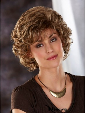 Synthetic Wig UK Blonde Color Wavy Style Layered Cut Chin Length