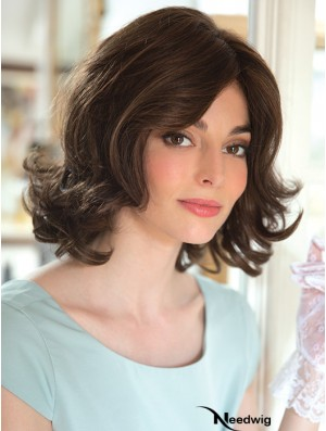 "New 12"" Brown Shoulder Length Layered Wavy Lace Wigs"