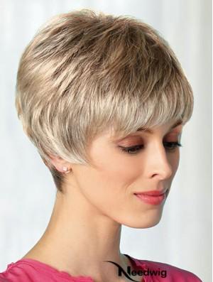 Boycuts Blonde 8 inch Best Short Wigs