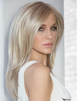 100% Hand-tied 16 inch Straight Blonde With Bangs Cheap Wig