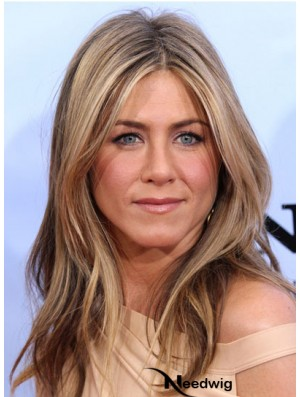 Long Wavy Without Bangs Lace Front Blonde Discount 20 inch Jennifer Aniston Wigs