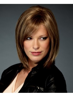 Synthetic Whole Lace Wigs Chin Length Bobs Cut Straight Style
