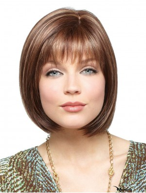 Synthetic Wigs For White Women With Lace Front Straight Style