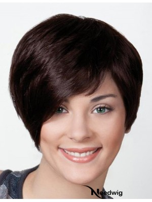 "Black Boycuts Short 8"" Straight Synthetic Monofilament Wig Sale"