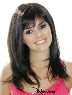 Monofilament Human Hair Wigs UK 100% Hand Tied With Bangs