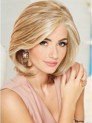 Chin Length 100% Hand-tied Blonde 10 inch Classic Cut Wig