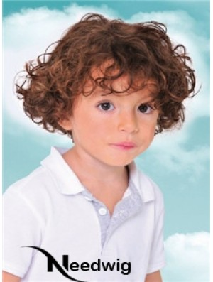 Childs Wig With Capless Curly Style Short Length