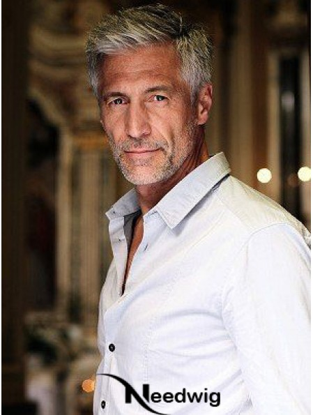 Remy Huamn Straight 100% Hand Tied Short Cool Wigs For Men