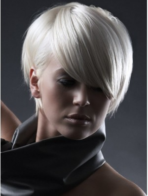 Capless Boycuts Short Straight 8 inch Designed Fashion Wigs