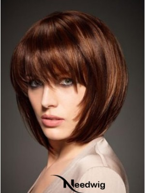 Chin Length Straight Capless Wigs Online Cheap