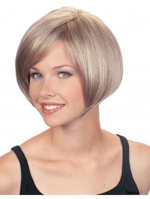 Synthetic High Quality Short Straight Grey Wigs