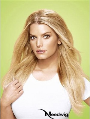 High Quality Blonde Straight Synthetic Clip In Hair Extensions