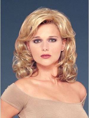Hair Falls With Sunthetic Blonde Color Wavy Style
